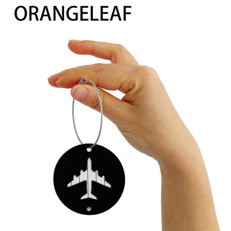 Aluminium Cirkel Bagage Labels Vliegtuig Vorm Gecontroleerd Instappen - Reisaccessoires - Foto 3