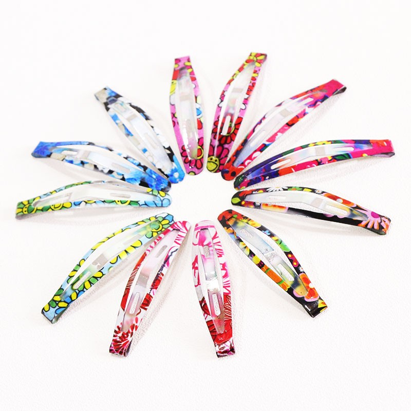 HTB1KsHoOpXXXXXuXXXXq6xXFXXXv Delightful Flower Geometric Print Hair Clip Set For Women - 7 Sets