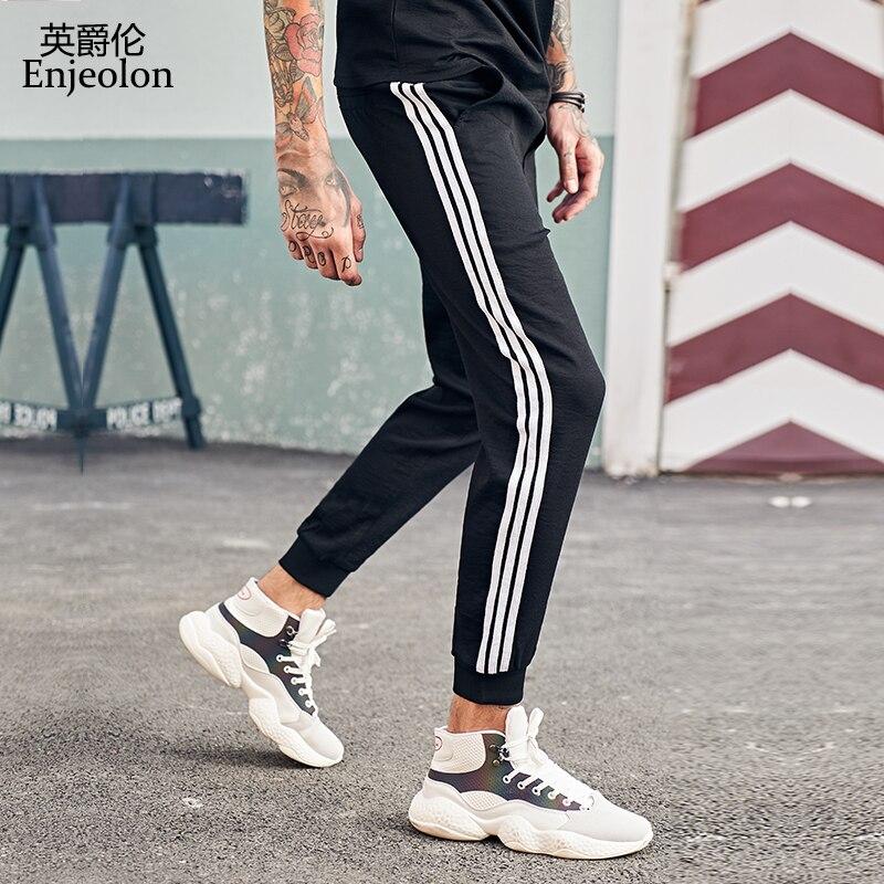 Enjeolon brand new long straight trousers pants joggers men fashion sweatpants men streetwear cool pants for men pants KZ6351
