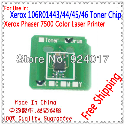 For Xerox 7500 7500dn 7500dt Toner Chip,Toner Reset Chip For Xerox Phaser 7500 7500N 7500DN 7500DT Color Printer,For Xerox P7500
