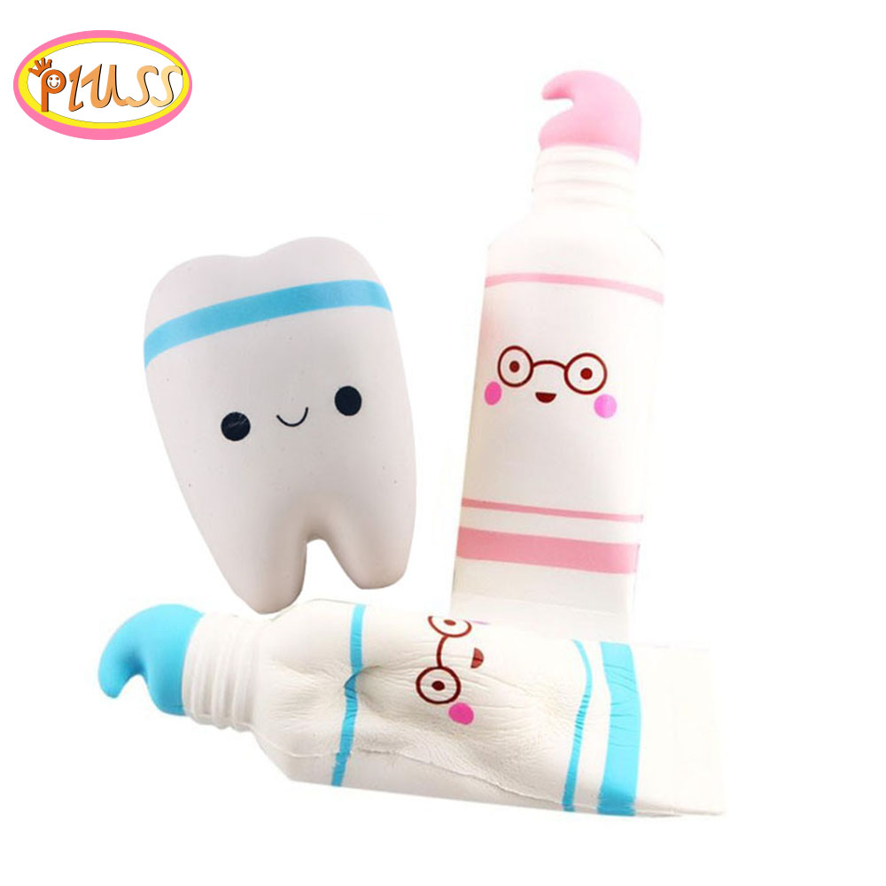 Kawaii Squishy Jumbo Tooth Antistress Slow Rising Toys For Children Squishy Wholesale Soft Squishies Simulation Pu Toys Pluss
