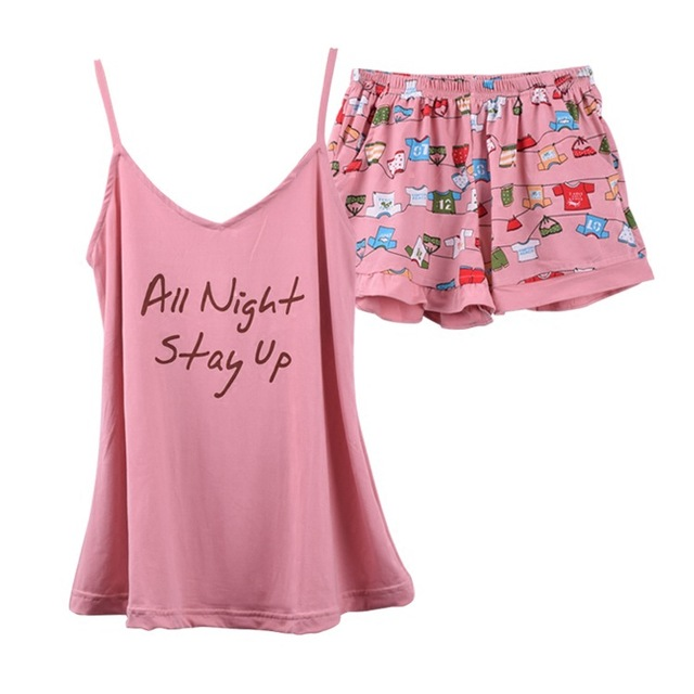 f405df03f527 New Summer Family Pajamas Sets Luxury Women Best Friend Stitch Cotton Cute  Sleepwear Two Piece Shorts