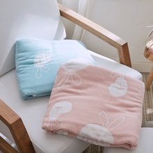 100% Cotton Soft Blankets For Beds Japan Style Rabbit Printed Summer Quilt Bedspread