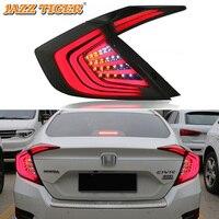 Задний противотуманный фонарь + стоп сигнал + задний фонарь + указатель поворота Автомобильный светодиодный задний фонарь для Honda Civic 2016 2017