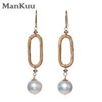 SG Featured Baroque Pearl Earrings New Design Freshwater Pearl Earrings Gold Drop Earrings Fashion Jewelry Gemstone For Wedding