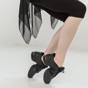 Image 5 - Sansha    Genuine Pig Leather Dance Sneakers Black Comfortable Salsa Jazz Air Cushion  Dance Shoes  H166LPI