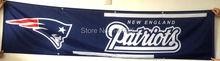 New England Patriots Flagge 240X60 CM Banner 100D Polyester 2X8 FT flagge messing ösen 001, freies verschiffen