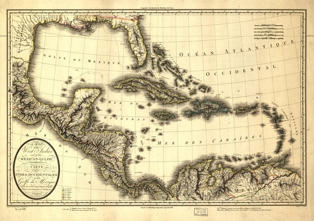 Aliexpresscom Buy Caribbean Sea Map Classic Vintage Retro Kraft - Caribbean sea map