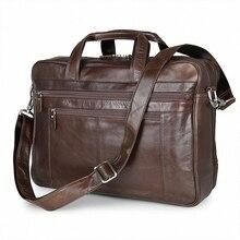 NEW Genuine Leather Coffee Men Briefcase 17inch Laptop Business Bag Cowhide Men's Messenger Bags Luxury Lawyer Handbags LI-1265