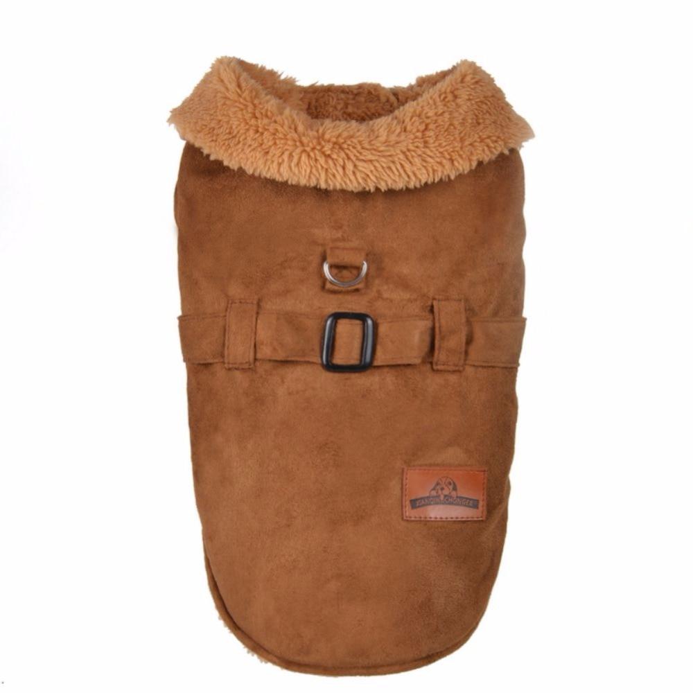 Household Christmas Winter Belt Fleece Pet Coats Jacket Dog Clothes ...