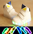 European fashion cute colorfu lighting baby shoes high quality Lovely girls boys sport glowing sneakers cartoon cool baby boots
