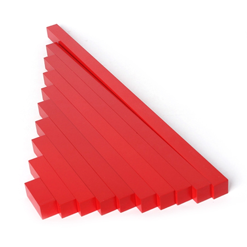 Montessori Wooden Red Long Sticks Math Rod Toys Kids Educational Early Teaching 328 Prom ...