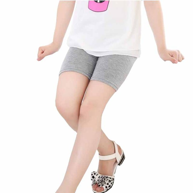 cd1f2d9504f Ywstt Hot sale New girls summer Bamboo fiber short leggings lace safety 5  minutes of pants