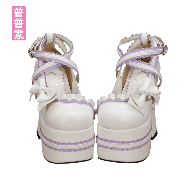 Princess sweet lolita shoes Summer and spring fashion and lovely cute lace sweet soft sister women's high heel shoes pu9802