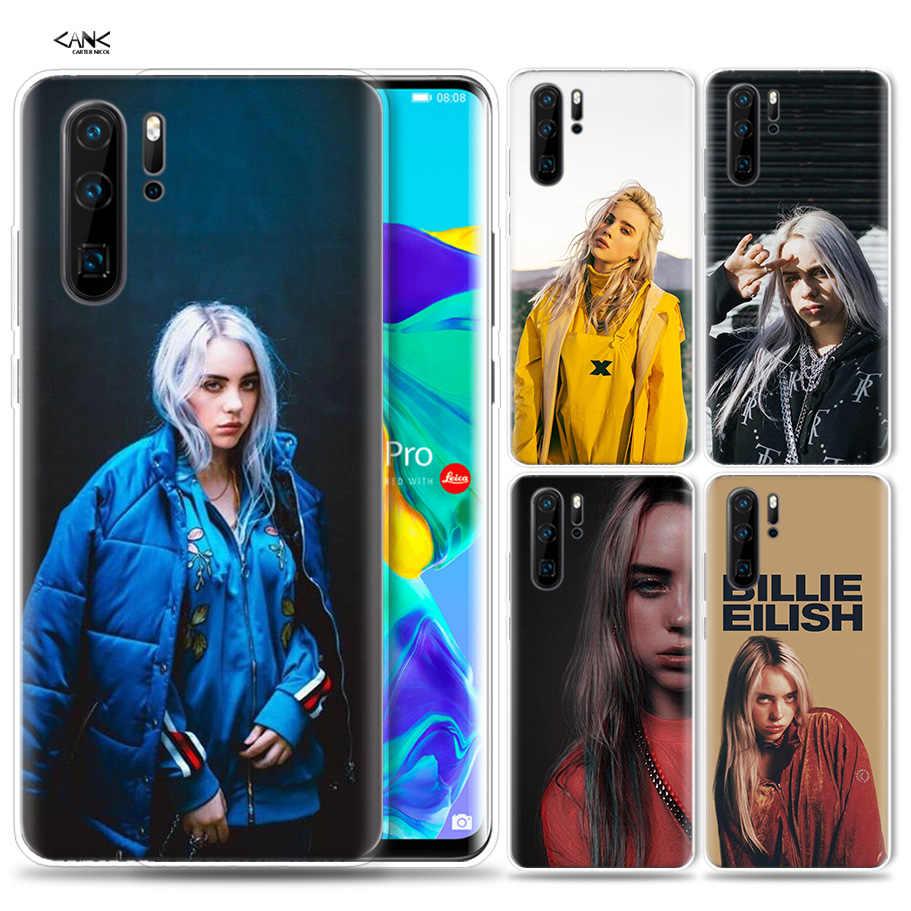 สำหรับ Huawei P30 P20 P10 P9 Mate 10 20 Lite Pro โทรศัพท์มือถือกระเป๋า P สมาร์ท Z 2019 plus Billie Eilish สาว P8 P30Pro P20lit