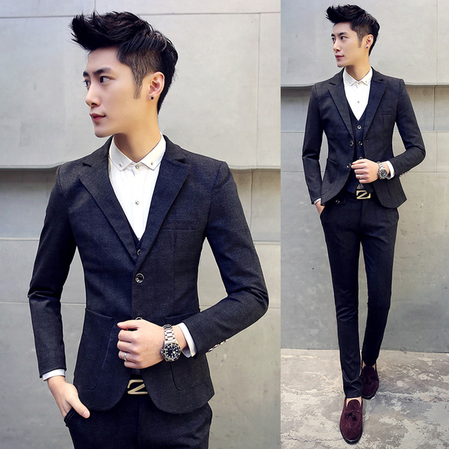 96d112366e83 High quality men s large size 5XL Slim suits Teen Wedding Dress Formal wear  clothes male Business Casual Suits jacket+vest+pants