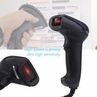 F6 One Dimensional Bar Code Wireless USB Laser Bar Code Scanner Reader Mobile Payment Computer Screen