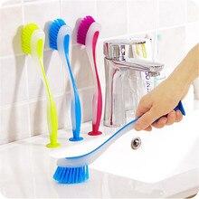 1 шт. многофункциональная цветная Вертикальная щетка для очистки кухонной посуды щетка для мытья посуды щетка для очистки раковины