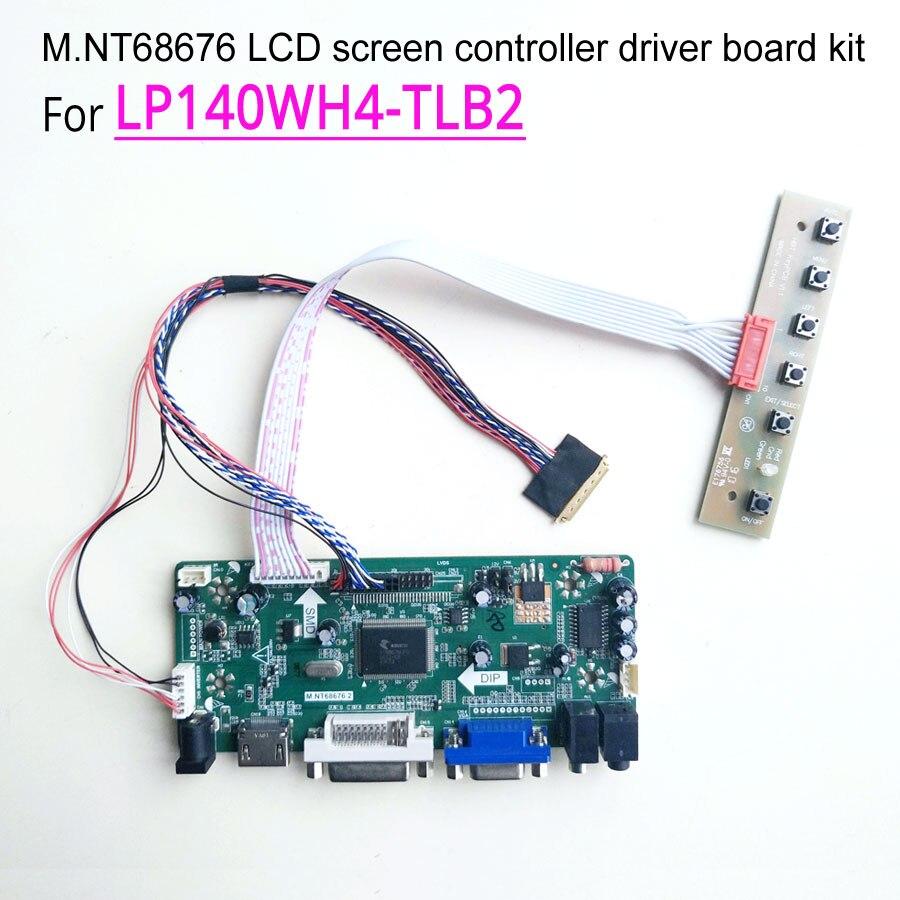 "HDMI+DVI+VGA LCD Controller Driver Kit for LED Panel 14/"" 1366x768 N140B6-L02"