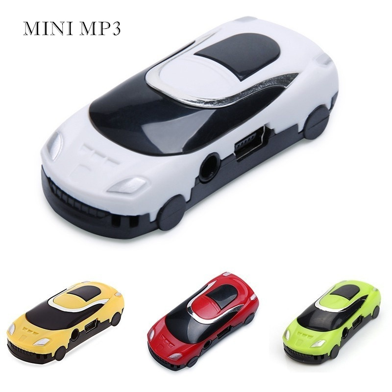MP3 Children Gifts Music Player Mini Car Style MP3 LED Light Cartoon MP3 Player With TF Card Slot MP3 Car USB Player TW-540