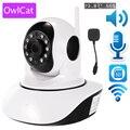 OwlCat Wireless 1080p 720p HD IP Camera WiFi Dome IR Night P2P Baby Monitor Audio Talk SD CCTV Onvif Temperature humidity sensor