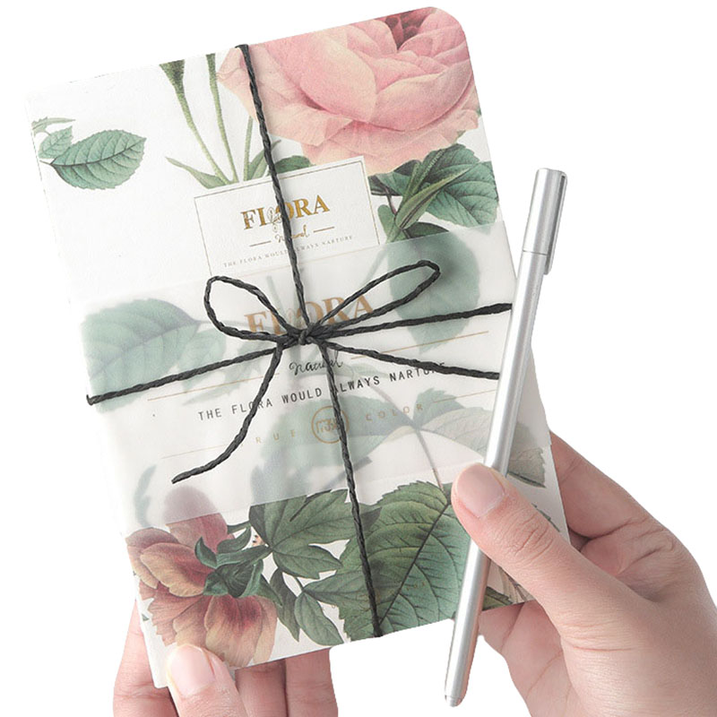 Daily Memos Blank Inner Page Printing Notebook Fashion Retro Plant Business Office Gift Notepad 80 Sheets 4 Colors Notebooks hermes amazone page 4 page 4