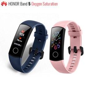 Image 1 - Original Huawei Honor Band 5 bracelet intelligent sang oxygène couleur écran tactile natation course moniteur fréquence cardiaque sommeil sieste