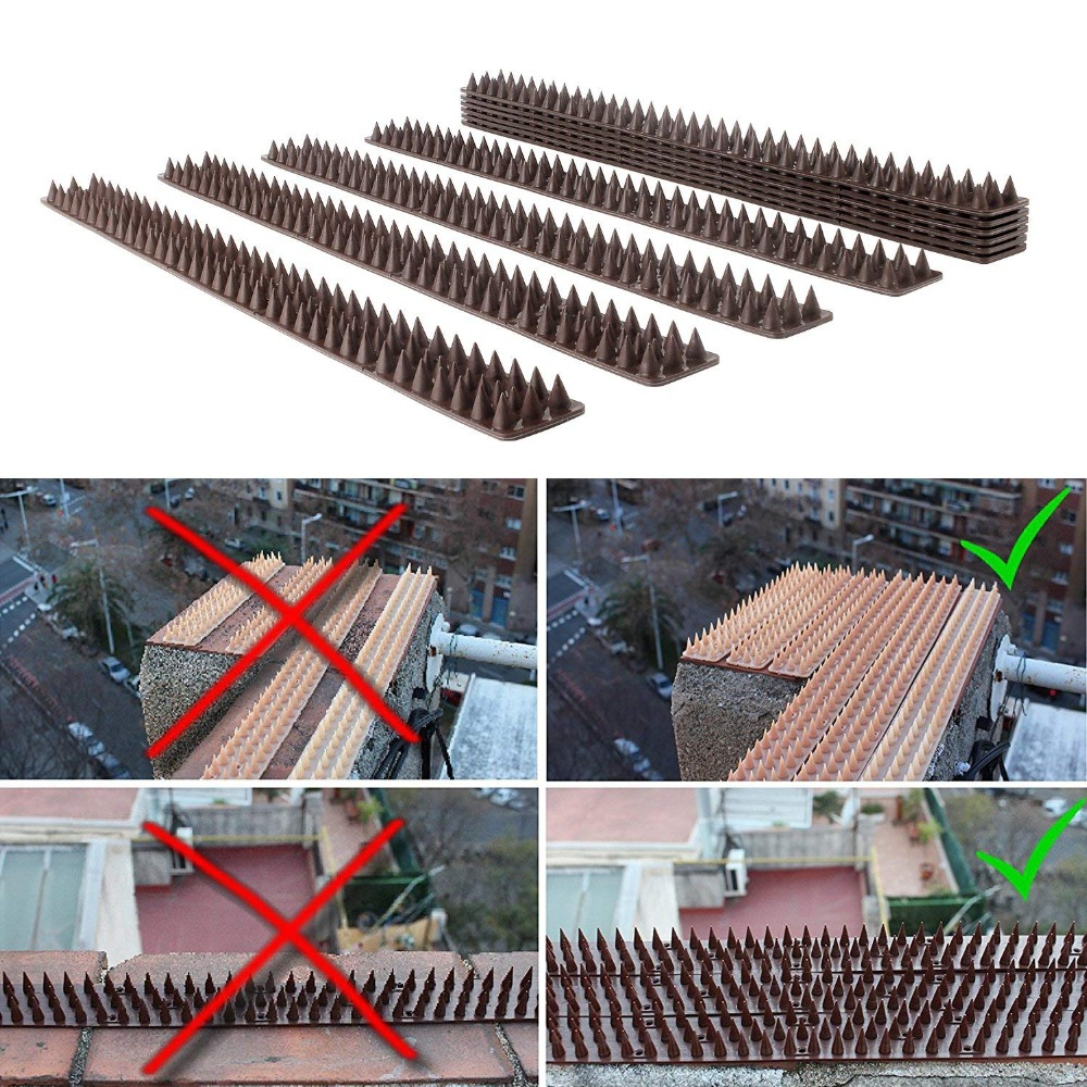 Image 3 - Forever Speed Repellent Plastic Drive Down Bollard Birds Spikes Anti Pigeons Birds  40pcs Spikes brown spikes 49 x 4.5 x 1.7 cmRepellents   -