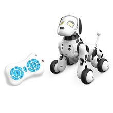 DIY Assembled Electric Robot Dog Induction Infared Educational Toy Kids Gift Remote Control Dancing Singing Intelligent(China)