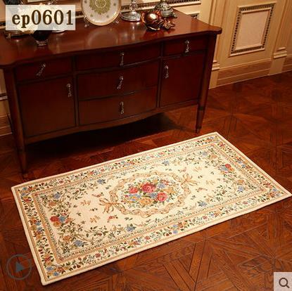 Tapis Beige Floral moderne de zone orientale, tapis doux lavables, tapis pour le salon, tapis et tapis pour le salon à la maison