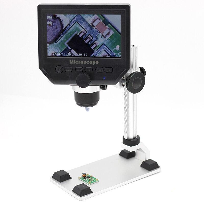 600X Digitale Microscopio Elettronico Microscopio Video 4.3 pollice HD LCD Saldatura Del Telefono Rpair PCB Circuito BGA SMT Microscopio