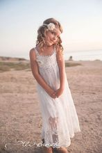 Casual Flower Girl Dresses For Wedding Spaghetti Strap Floor Length Boho Beach Fancy Pageant Dress Princess