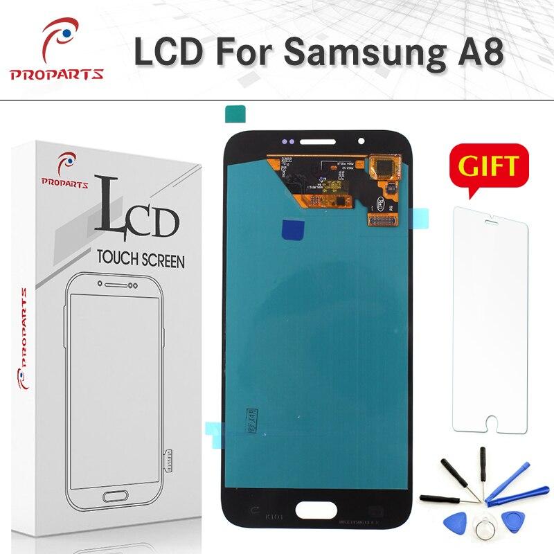 Super AMOLED Écran pour Samsung Galaxy A8 A800 A800F A8000 LCD Affichage Tactile Digitizer Assemblée 2015 Remplacement 1920*1080 + outils