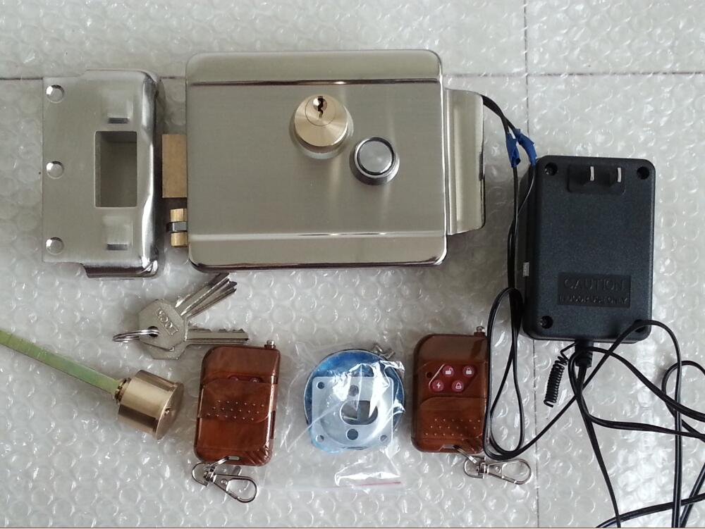 Gate Electric Door Lock With 2 Remote Controllers 12v Dc