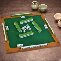 Mahjong 144 Pcs Traditional Mini Travel Chinese Mahjong Set Green Back Ma Jiang Cantonese Style With Mini Mah Jong China Pequena
