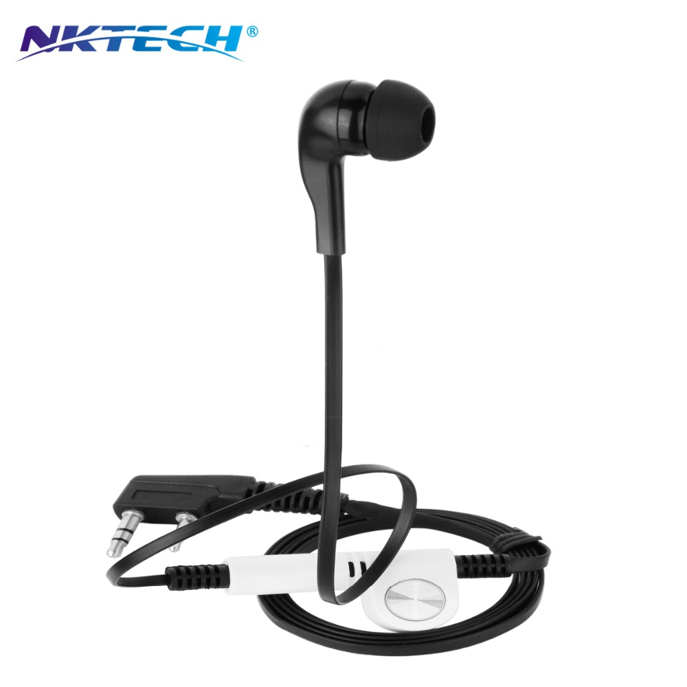 NKTECH NK-H5 Earpiece Headset For PUXING WOUXUN TYT Kenwood BaoFeng UV-5R UV-6R UV-82 GT-3 GT-3TP GT-5 UV-5X DM-5R Walkie Talkie
