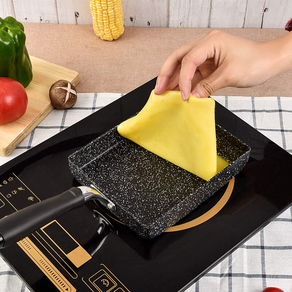 MyLifeUNIT Breakfast Omelette Pan Non-Stick Japanese Egg Rolled Frying Pot Tamagoyaki Egg Pan Kitchen Cooking Tools