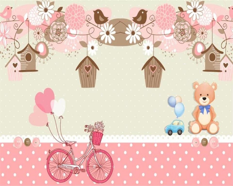 beibehang papel de parede 3d wallpaper Custom Sentimental Rainy Season Warmer Kids Room Decorative Background