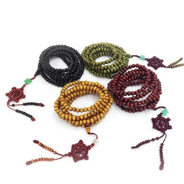 Tibetischen Sandelholz Buddhistischen Buddha 216 Gebetskette Mala Armband/Halskette