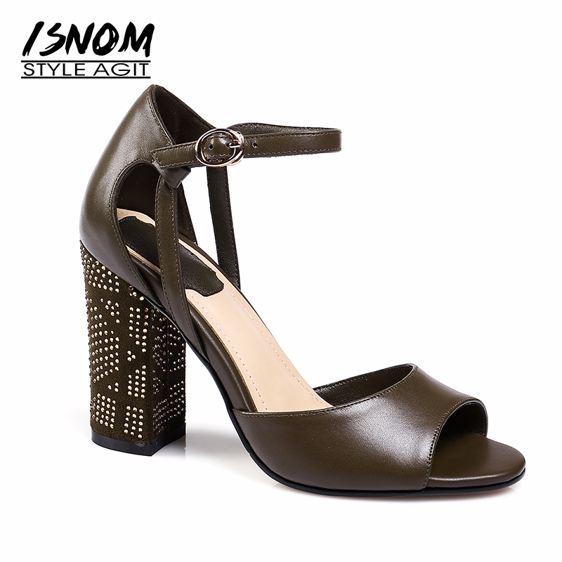 MLJUESE 2018 women sandals Genuine leather buckle strap silver color pointed toe low heel pumps beaches