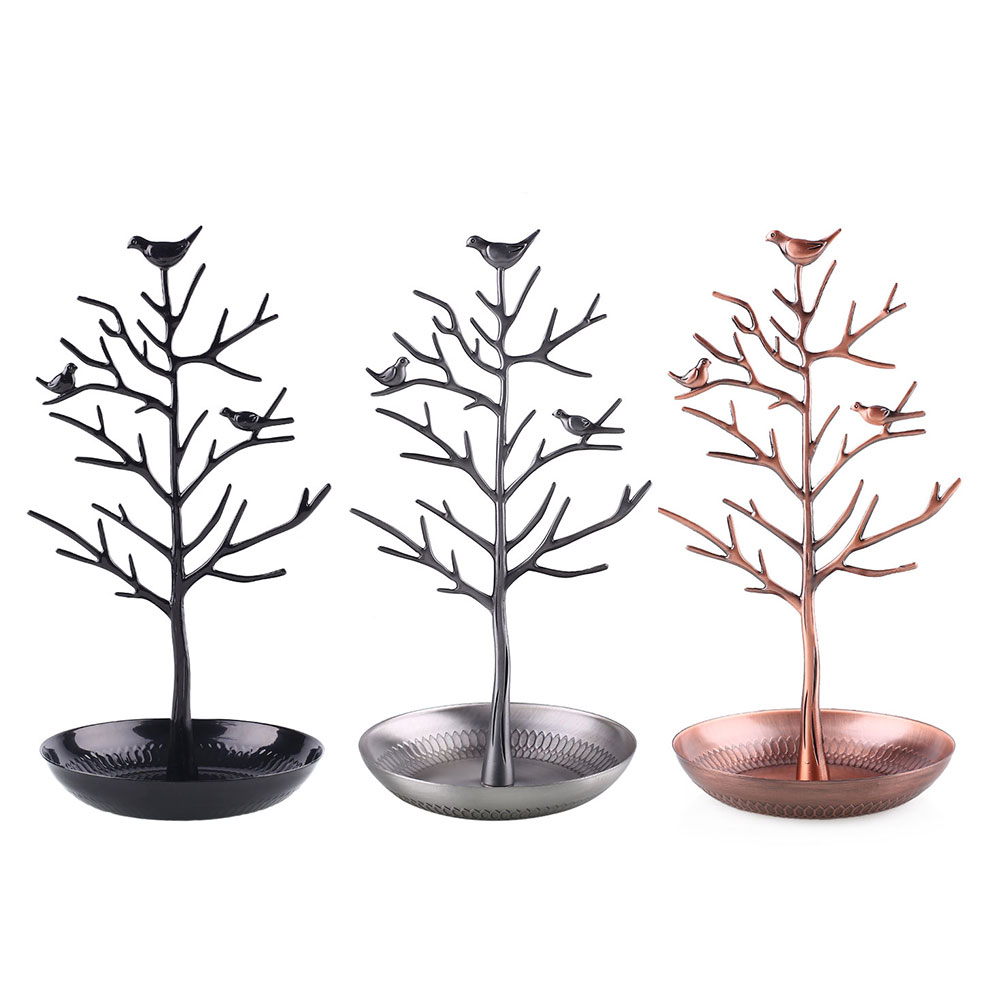 Jewelry Stand Bird Tree Holder Rack Bracelet Earring Display Gift Design