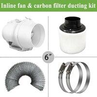 6 Встроенный воздуховод и Угольный воздушный фильтр и воздуховод для полный гроутент наборы растениеводства 150 мм