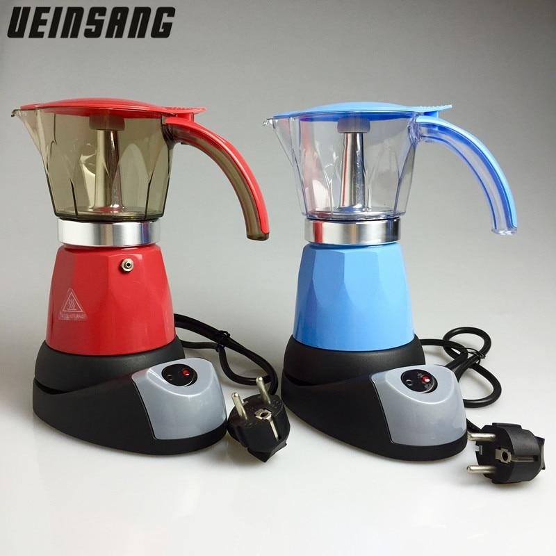Italian Coffee Maker Filter : 6 Cups Electric Moka Coffee Maker Mocha Pot Percolator Tools Filter Coffee Pots Italian Espresso ...