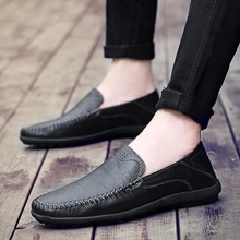 2018 New Good Leather Men Loafers Handmade High Quality Casual Shoes Trendy Homme Soft  5