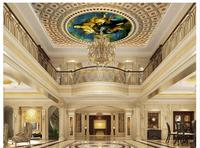 Free Shopping 2014 New Non Woven World Famous Paintings European Style Condole Top Heaven Mural Wallpaper