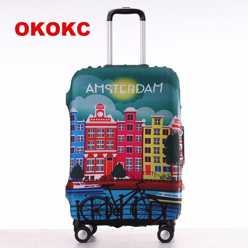 OKOKC Travel Luggage Suitcase Protective Cover, Stretch, made for S/M/L/XL, Apply to 18-30inch Cases, Travel Accessories цена