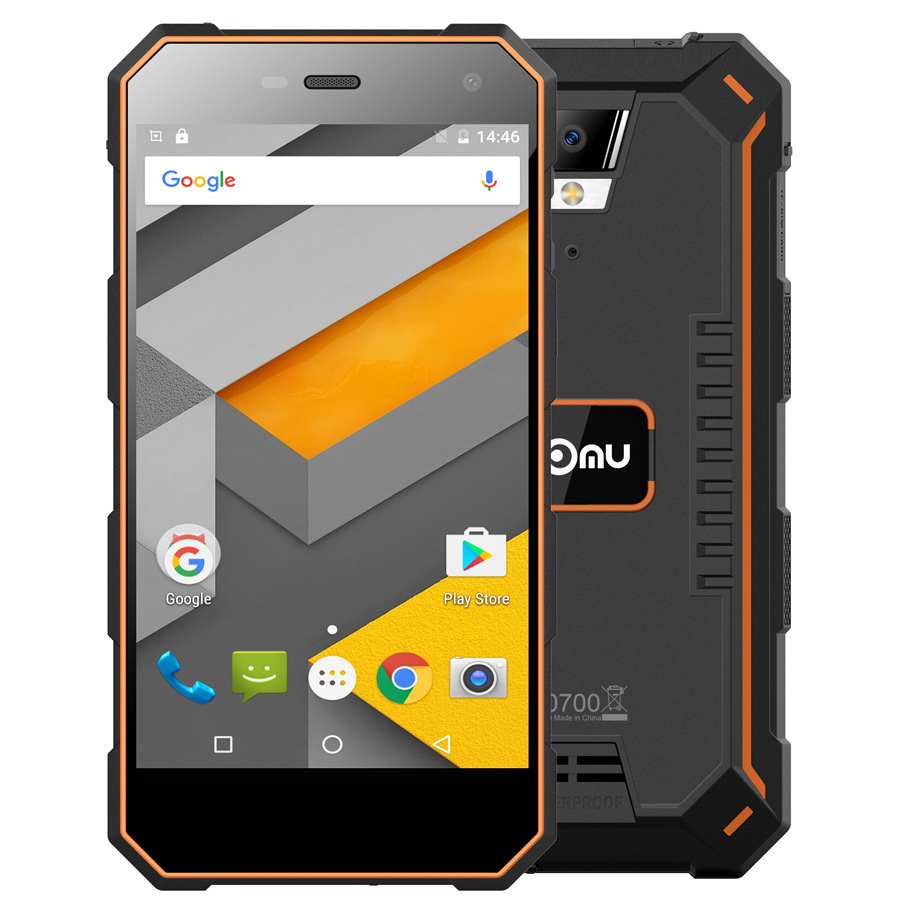 "Original Nomu S10 5.0""HD Quad Core 2GB RAM 16GB ROM MTK6737T Android 6.0 8.0MP 1280x720 5000mAh IP68 Waterproof Mobile Phone"