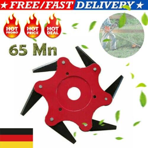 New 6 Stahlklingen Rasenmäher Grasfresser Trimmerkopf Freischneider 65Mn  DE