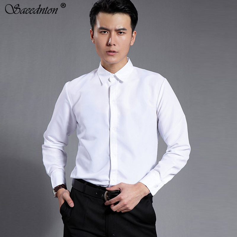 22 Color 2019 Brand Luxury New Men Dress Shirts Men Fashion Casual Long Sleeve Business Formal Shirt Camisa Social Masculina 4XL in Casual Shirts from Men 39 s Clothing