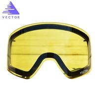 Anti Fog UV400 Skiing Goggles Lens Glasses Weak Light Tint Weather Cloudy Brightening Lens For HB